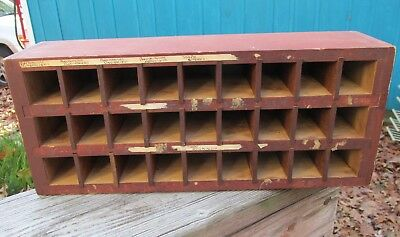 Antique Wood Apothecary Medicine / Chemical Sectional Box