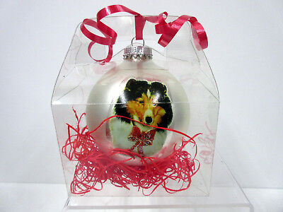 New Sheltie Shetland Sheepdog Christmas Holiday Ball Ornament By Ruth Maystead