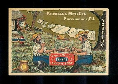 Farmers Eat Lunch On A Soapbox-1880s Victorian Trade Card