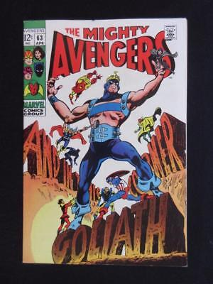 Avengers #63 MARVEL 1969 - NEAR MINT 9.0 NM - Goliath becomes Yellow Jacket!!!