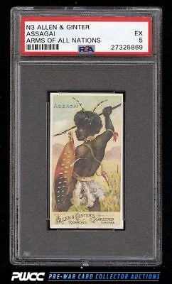 1887 N3 Allen & Ginter Arms Of All Nations Assagai PSA 5 EX (PWCC)