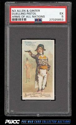 1887 N3 Allen & Ginter Arms Of All Nations Duelling Pistol PSA 5 EX (PWCC)
