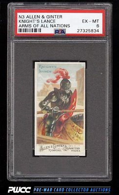 1887 N3 Allen & Ginter Arms Of All Nations Knight's Lance PSA 6 EXMT (PWCC)