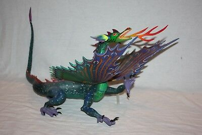 Oaxacan Wood Carving -- Tribus Mixes Winged Dragon