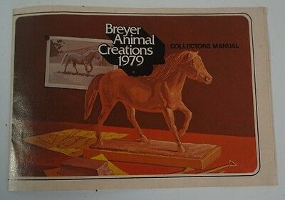 VTG 1979 Breyer Animal Creations Collectors Manual Brochure Model Horses