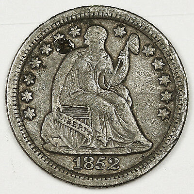 "1852-o Seated Liberty Half Dime.  Large ""o"".  X.F. Detail.  99522"