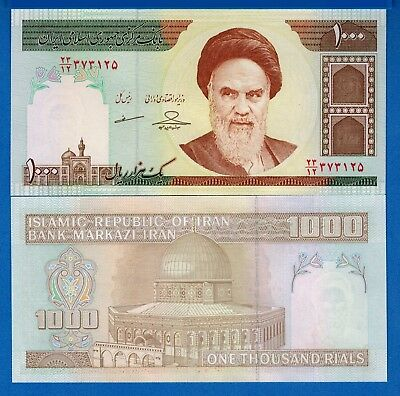 Iran P-143 1000 Rials Year ND 1992 Khomenini Uncirculated Banknote