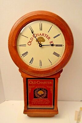60's Old Charter 10 Kentucky Bourbon Whiskey Clock, Wisconsin Clock Co  NOS