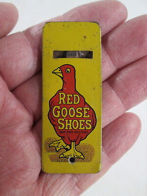 1930's Store Advertising Giveaway, Metal Whistle, Red Goose Shoes