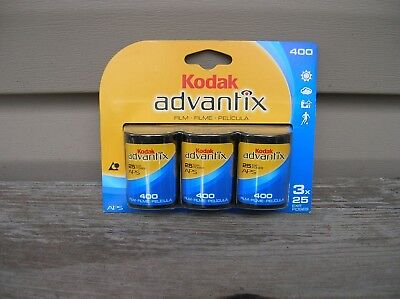 Lot of 3 Rolls KODAK ADVANTIX ISO 400 NOS