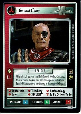 Star Trek Ccg The Motion Pictures Rare Card General Chang