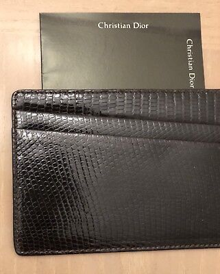 CHRISTIAN DIOR Men's Wallet double-sided 5 slots authentic great gift reg 250.