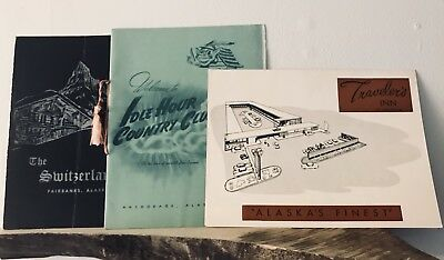 Lot of 1960's Alaska Fine Dining Vintage Menus Idle Hour Country Club Anchorage