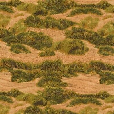 Danscapes 2015 Sand Dunes Tundra Tufts of Grass Brown Cotton Fabric by the Yard