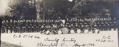 SPRINGFIELD OH Ohio c1906 RP Ohio National Guard Drum Corps: Ferncliff Cemetery