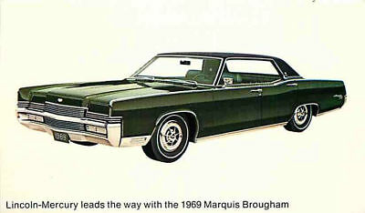 Advertising Postcard 1969 Lincoln-Mercury Marquis Brougham