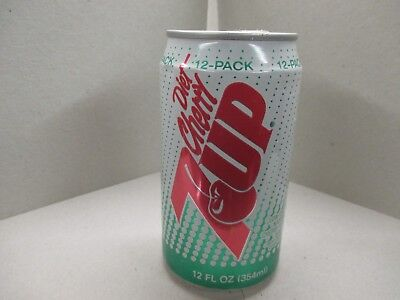 Diet Cherry Seven Up Soda Pop Can Aluminum
