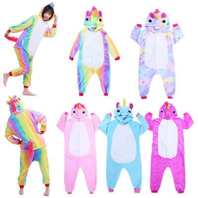 Unisex Kids Animal Pajamas Animal Cosplay Flannel One-Piece Sleepwear Nightwear