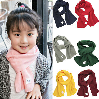 Child Kid Baby Girl Boy Knit Scarf Winter Warm Crochet Wraps Neckerchief Scarves