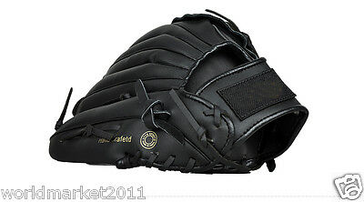 Sporting Goods PU Material 11.5 Inches Wear-Resisting Baseball Glove Black &$