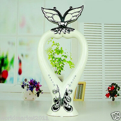 """European White+Silver """"Butterfly"""" Ceramic H 42cm Home Accessories Decoration"""