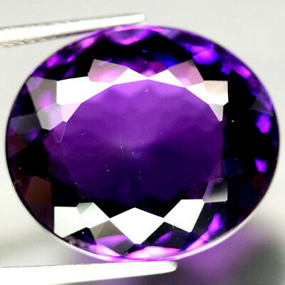 24.71 CT AAA! 18 X 21 mm. PURPLE CLR CHANGE TO PINK BRAZILIAN AMETHYST OVAL
