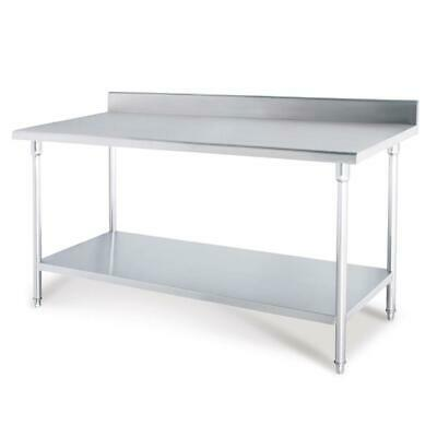 SOGA Stainless Steel Kitchen Work Bench Food Grade Prep Table 100*70*85cm