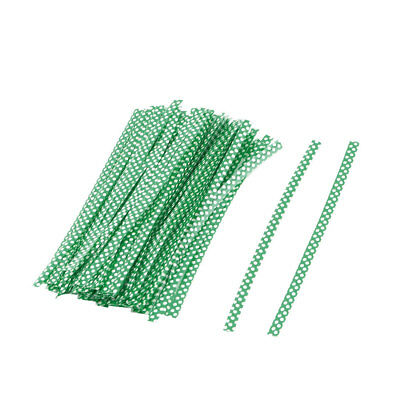 Plastic Dots Pattern Candy Gift Packaging Twist Ties Green 10cm Length 100 Pcs
