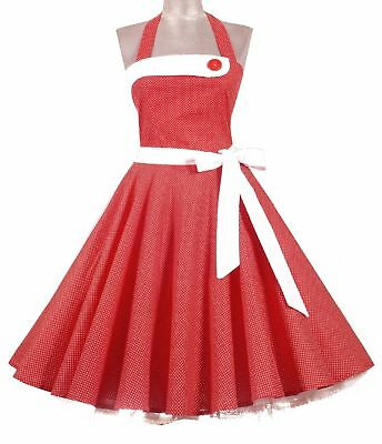 Abverkauf 50er Rockabilly Party TanzKleid  Petticoat Gr. 38,40,42,44,48,50,52