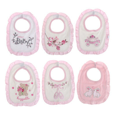 Baby Girl Bibs Animal Lace Princess Cotton Bandana Bibs Feeding Saliva Towel