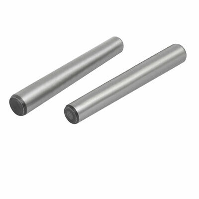 Carbon Steel GB117 80mm Length 10mm Small End Diameter Taper Pin 2pcs