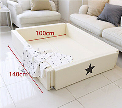 White Baby Kids Toddler Security Comfortable Playmet Deformable Bed fence.