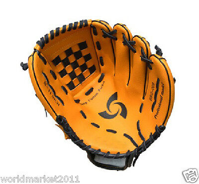 Sporting Goods PVC Material 11 Inches Wear-Resisting Baseball Glove Yellow&$