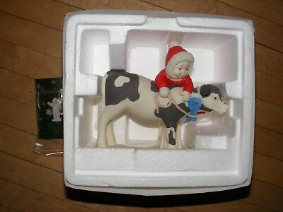 """Dept 56 Christmas Snowbabies """"BEST OF SHOW"""" BABIES ON THE FARM COW"""