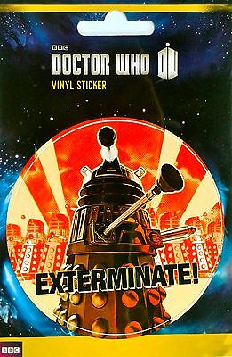 DOCTOR WHO EXTERMINATE! Vinyl Sticker - THE DALEKS