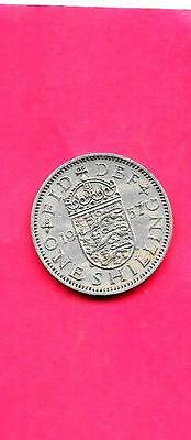 Great Britain Gb Uk Shilling Km904 1957 Vf-Very Fine-Nice Old Vintage Coin
