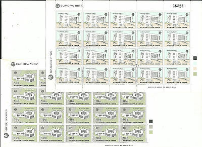 Cyprus Cyprus EUROPE cept 1987 Without Stamp hinges MNH Sheet block