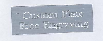 "Engraved Plate art-trophy-Taxidermy 1/2""x3"" Silver aluminum free engraving"