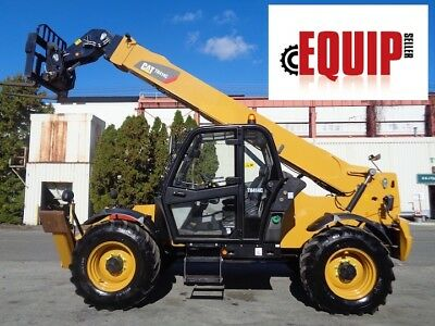 2014 Caterpillar TH414C 8,000lbs 4x4, Cab, Telescopic Boom Forklift - Low Hours