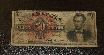 Fourth Issue Lincoln 50 Cents United States Fractional Note