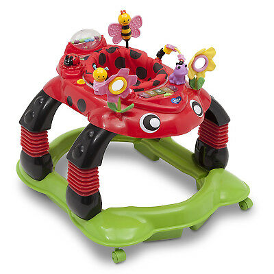 Delta Children Lil Play Station Sadie the Ladybug Infant Activity Walker Rocker