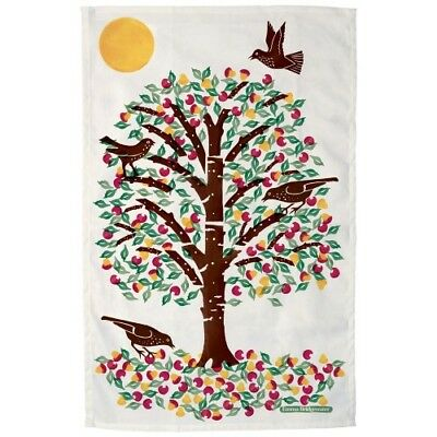 Emma Bridgewater Cherry Tree & Birds Festive Tea Towel Bnwt