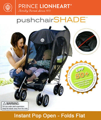 Prince Lionheart Universal Sun/Wind/Insect Protection Pushchair/Pram Shade Cover