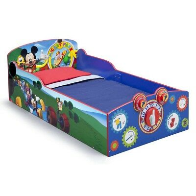 Delta Children Mickey Mouse Interactive Wood Toddler Bed Kids Bedroom Furniture