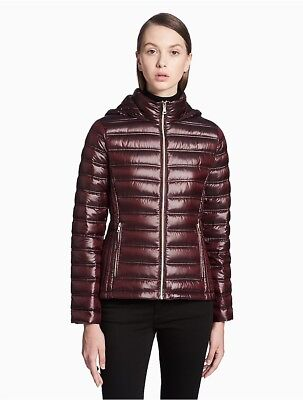 calvin klein womens packable hooded short jacket