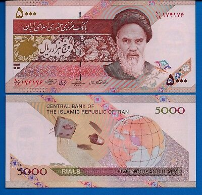 Iran P-150 5,000 Rials Year 2009 Khomeini Uncirculated Banknote Asia