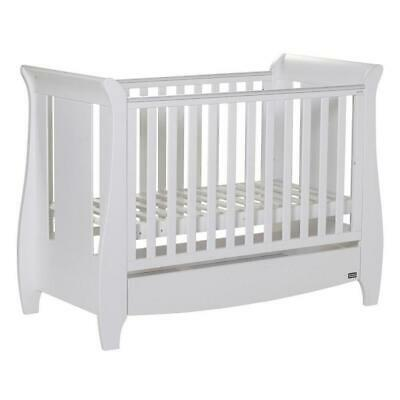 Tutti Bambini Katie Mini Cot Bed (White) - Suitable from Birth to 4 years