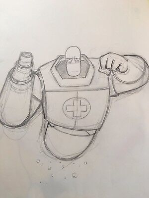 Warner Bros OSMOSIS JONES Original Production Animation Drawing 2001