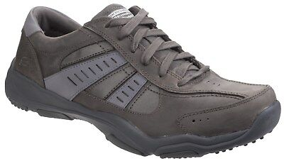New Mens/Gents Charcoal Skechers Larson Nerick Lace Ups Trainers UK SIZES