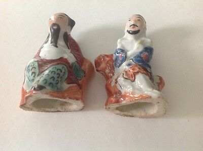 Two Vintage Chinese Porcelain Men Figurines